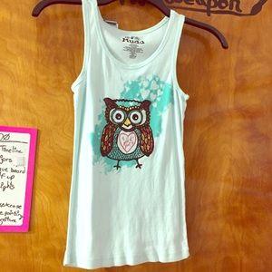 "Mudd girls ""wild at heart"" owl tank top"